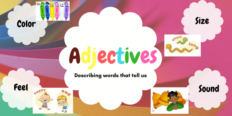5 ways to teach Adjectives to kids in a fun way! - The Mum ...