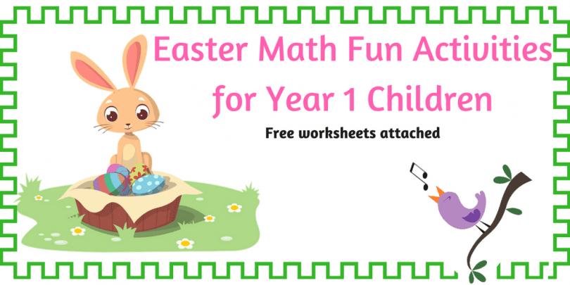 Fun Easter Math Activities for year 1 children. - The Mum ...