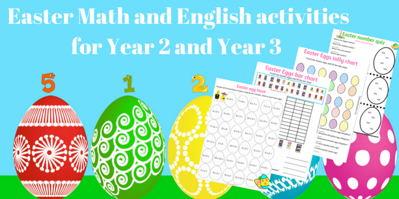 Easter Math and English activities to do with Year 2 and Year 3 kids ...