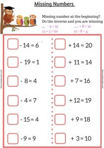 How to solve missing numbers problem in year 2? - The Mum Educates