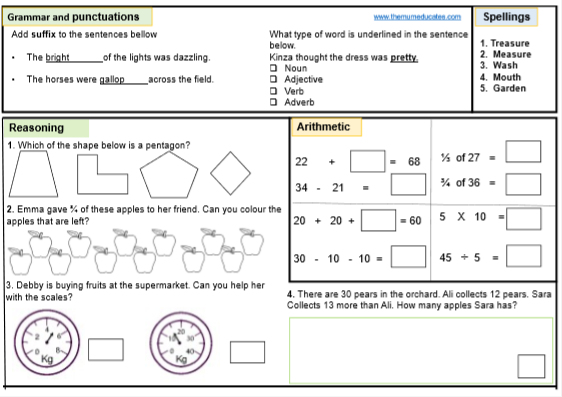 Free Ks1 Sats Worksheets And Practice Papers The Mum Educates
