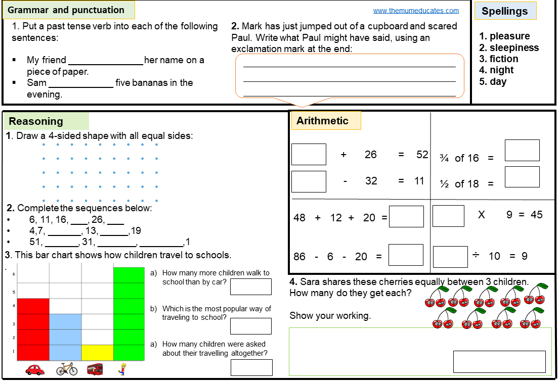 - FREE KS1 SATS Worksheets And Practice Papers - The Mum Educates