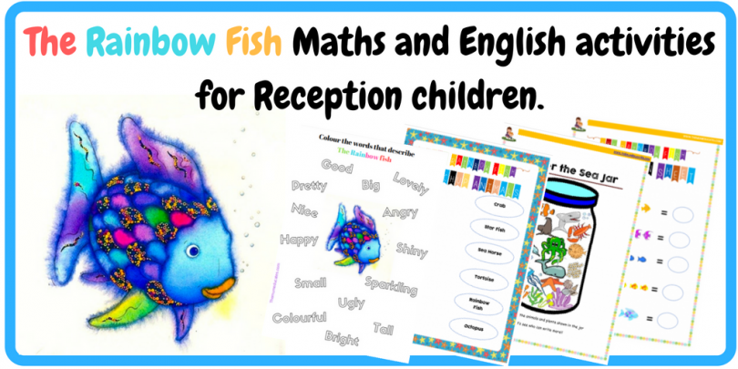 The Rainbow Fish Maths and English activities for Reception children ...