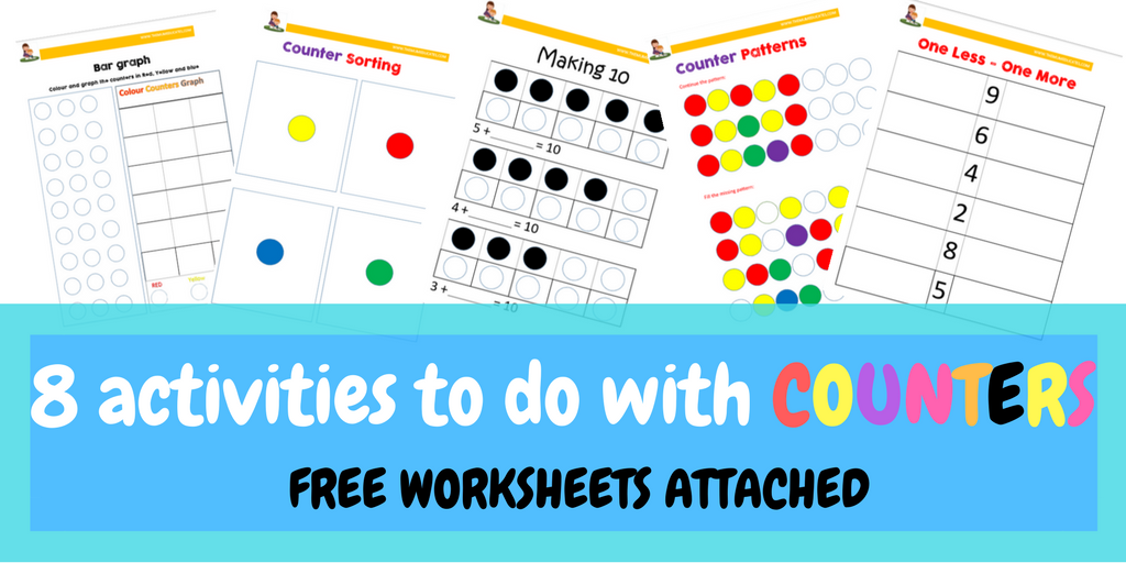 8 activities to do with counters + FREE worksheets - The Mum Educates