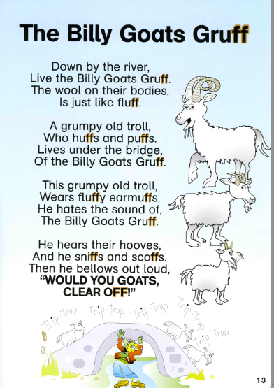 The Three Billy Goats Gruff Literacy Activities Freebies