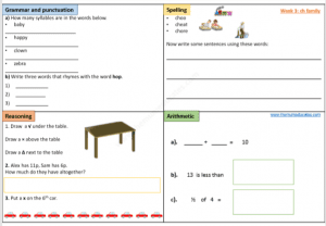 Year 1 Free worksheets daily