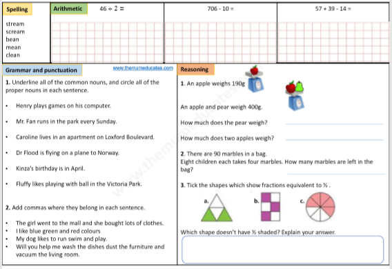 Year 3 FREE Worksheets The Mum Educates