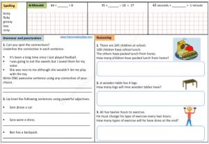 Year 3 FREE worksheets Math English