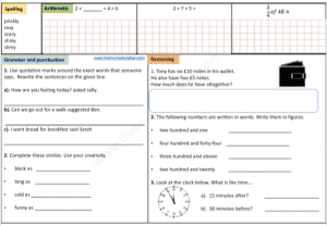 Year 3 Free worksheets a day. Day 14