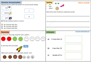 Year 1 worksheet free
