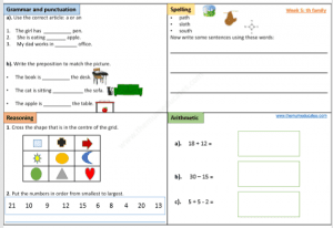 Year 1 free worksheets
