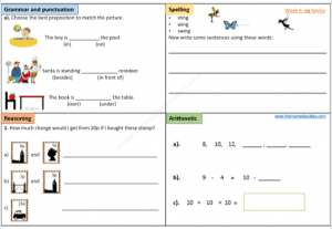 Year 1 Free Worksheets (age 5 - 6) - KS1 - The Mum Educates