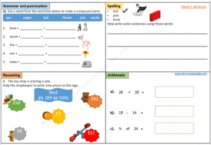 Download free year 1 worksheets