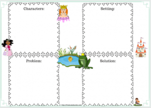 The Frog Prince (FREEBIES Literacy and Math worksheets) Story setting