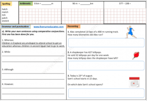 Year 3 Free worksheets