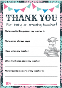 gift for Teacher printable