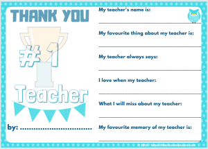 gifts for Teachers printable