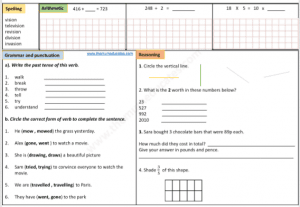 download free year 3 worksheets