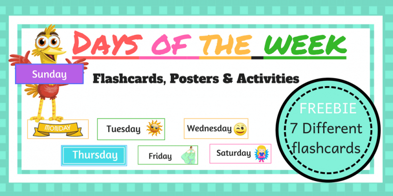 Days Of The Week Flashcards Poster And Activities The Mum Educates
