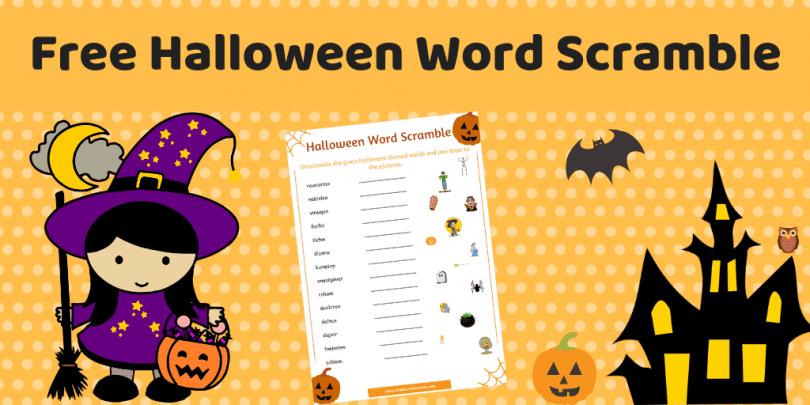 free halloween word scramble worksheet the mum educates