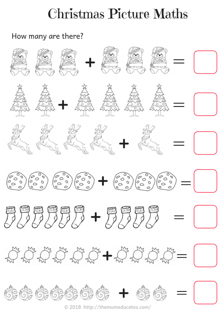 Year 1 Christmas Themed Maths Worksheets The Mum Educates