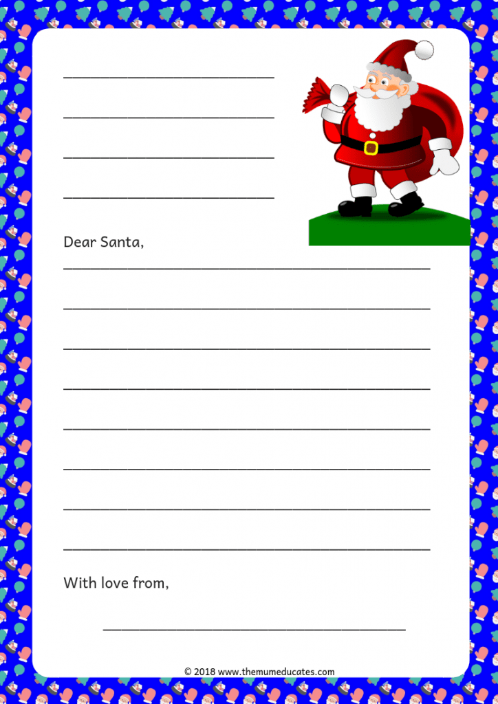 graphic about Free Printable Christmas Letters From Santa named 7 Free of charge Printable Letters in direction of Santa - The Mum Educates