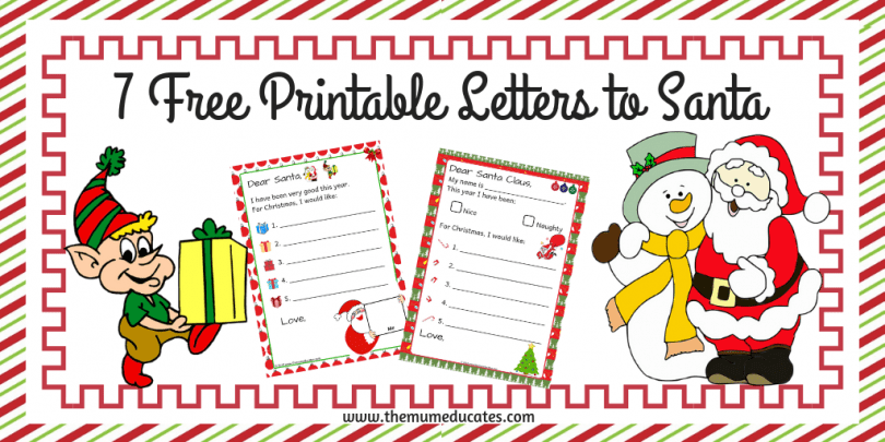 7 Free Printable Letters To Santa The Mum Educates