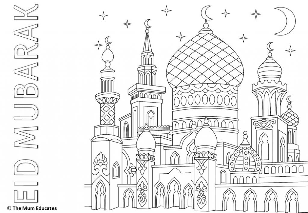Free Eid Colouring Sheets - Eid-ul-Fitr - The Mum Educates
