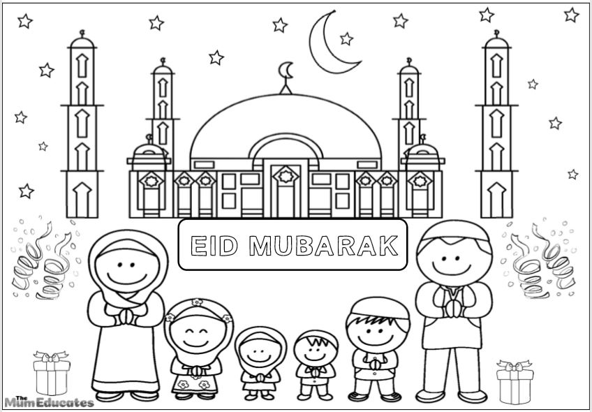 eid colouring
