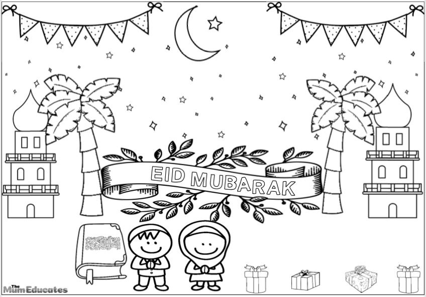 Eid colouring sheet
