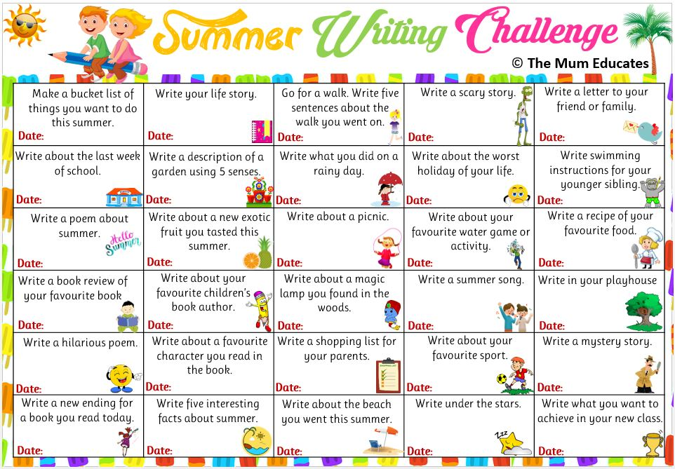 Summer Writing Challenge