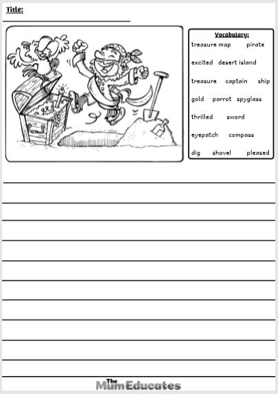 pirate Picture Writing Prompts