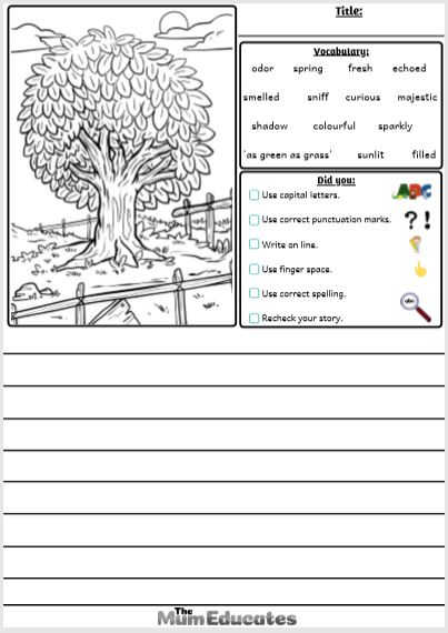 tree Picture Writing Prompts