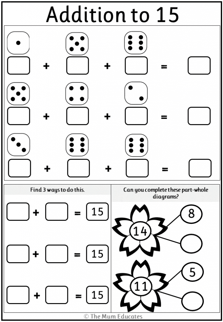 Free Addition Worksheets Year 1 - The Mum Educates