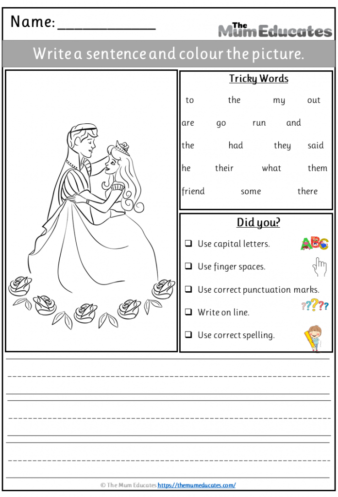 princess simple writing prompt
