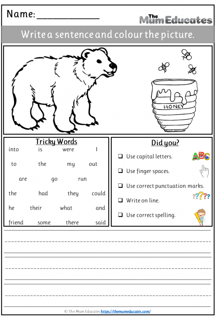 bear writing prompt