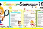 Summer Scavenger Hunts