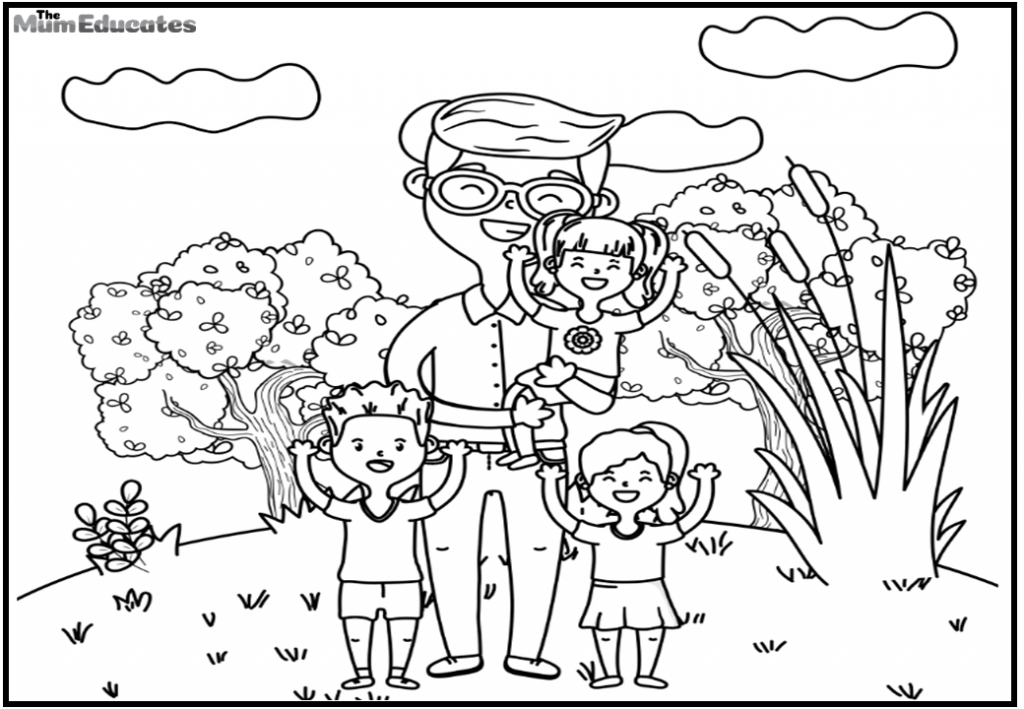 father Colouring Pages for kids