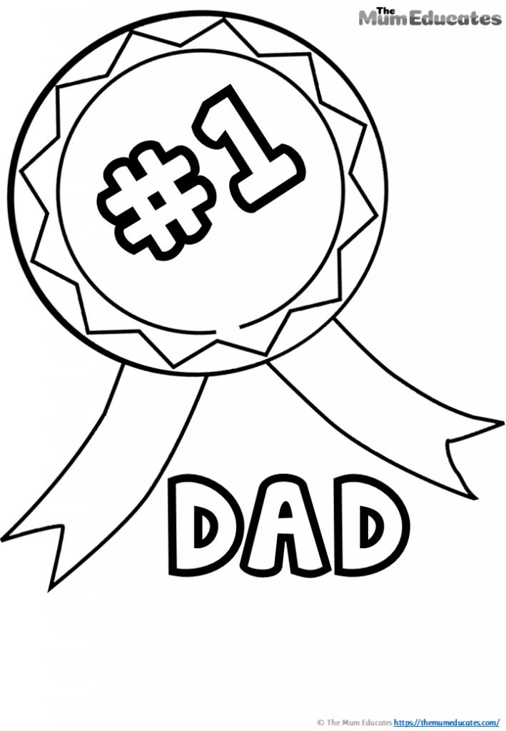 No 1 dad colouring