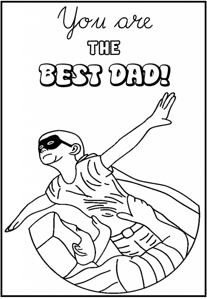best dad Colouring Pages for kids