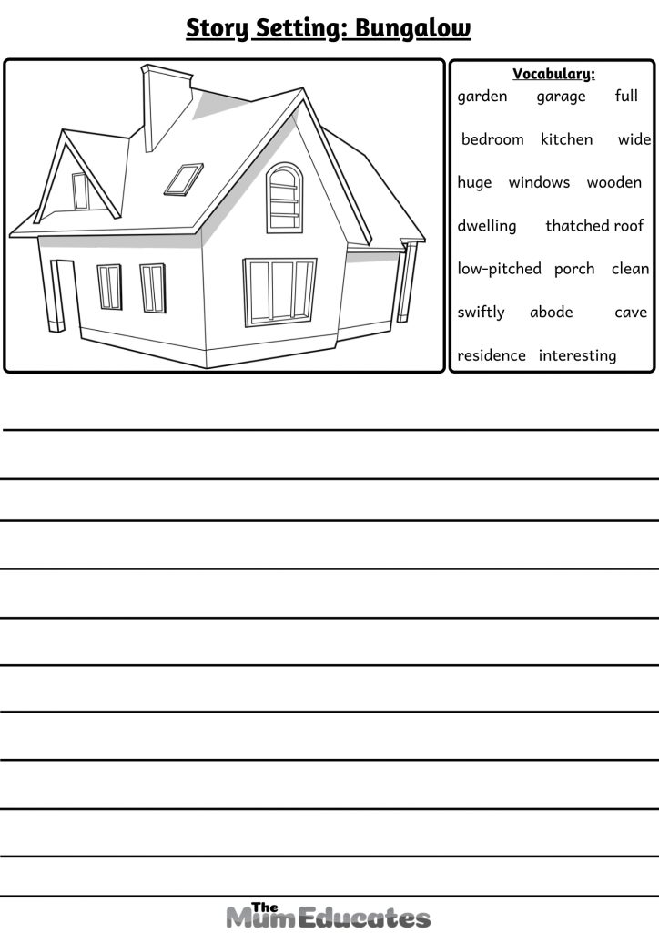 writing prompt Bungalow