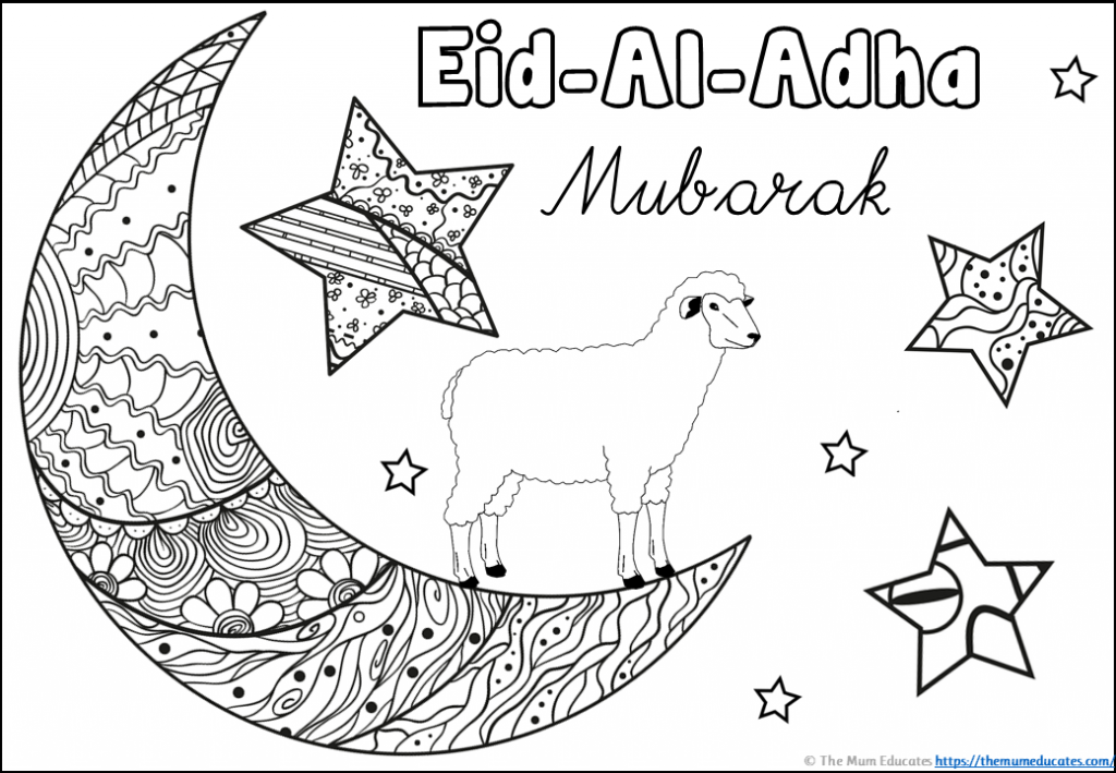 Moon Mindfulness Colouring