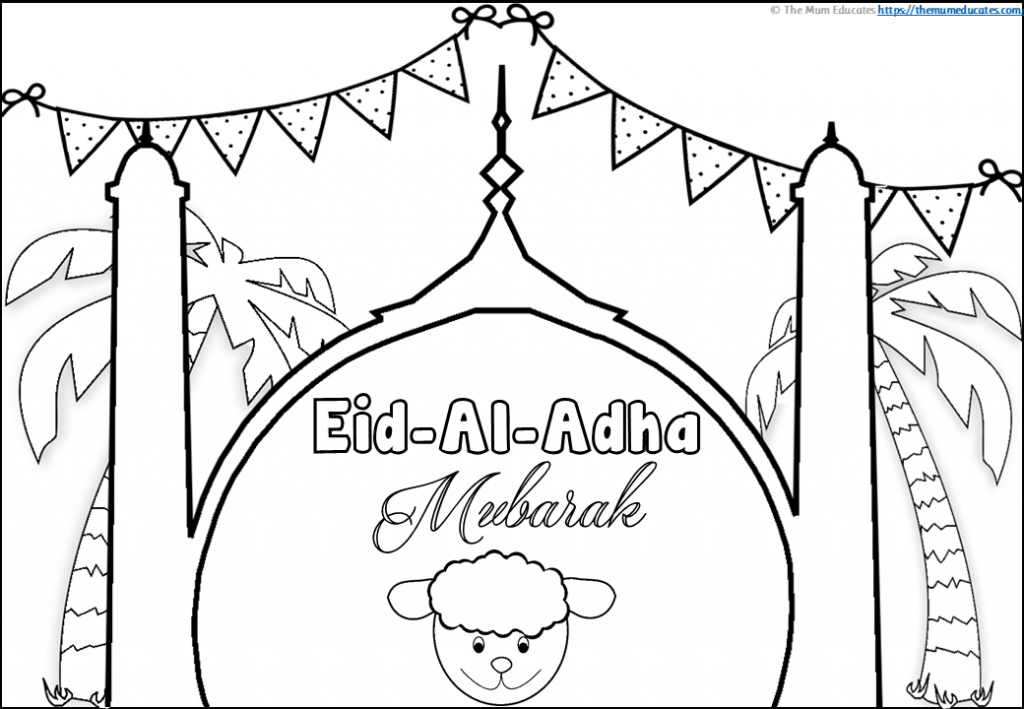 Eid Al Adha Colouring Pages