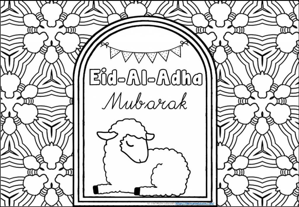 Eid Mindfulness Colouring Sheets
