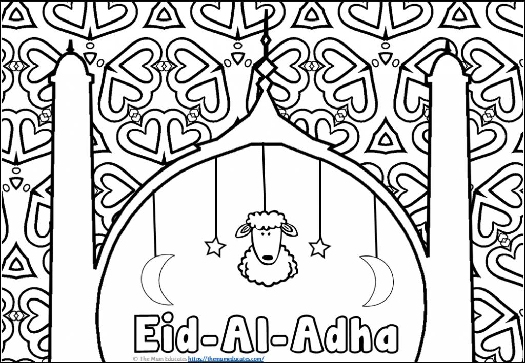 Eid al adha Mindfulness Colouring Sheets
