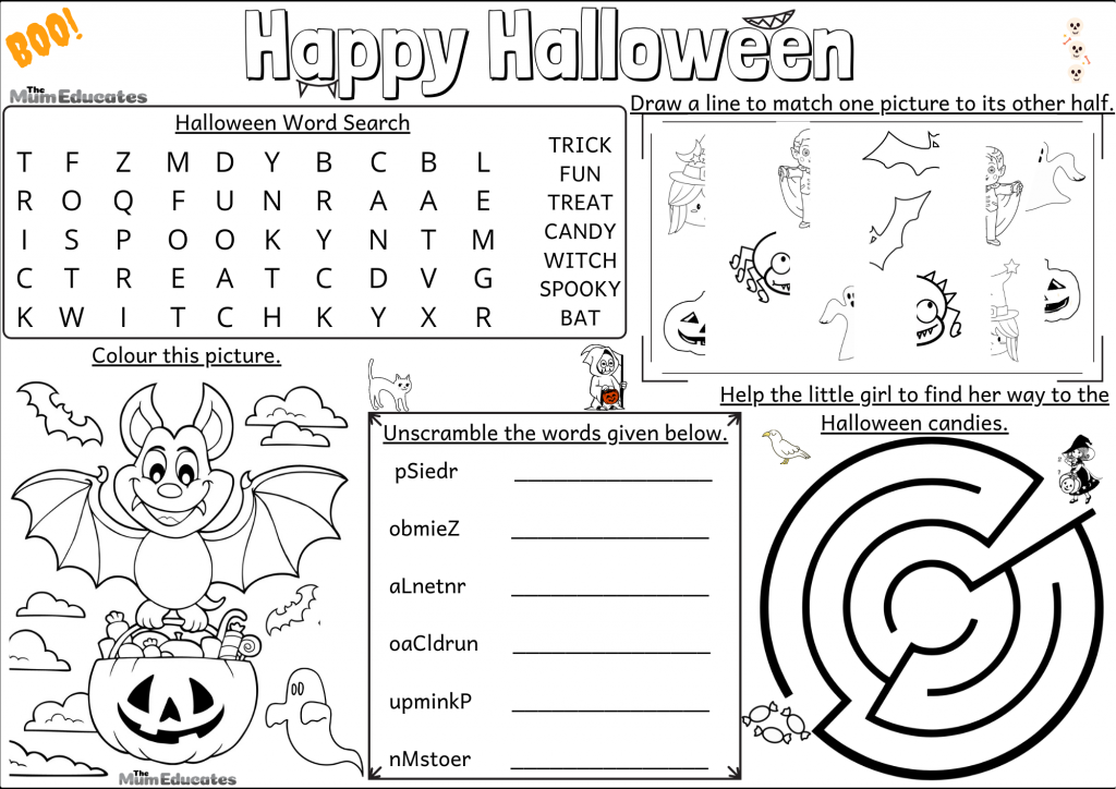 Halloween Activity Mat