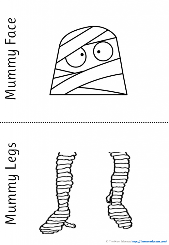 Mummy Halloween writing activity