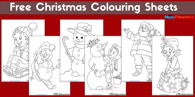 free Christmas colouring sheets