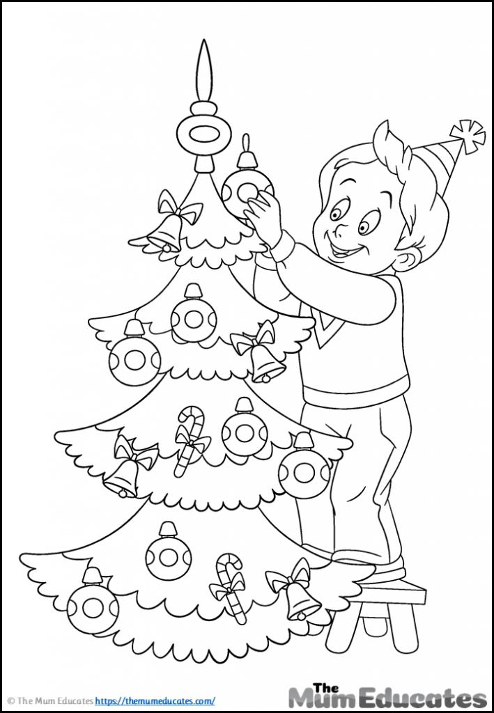 Christmas tree colouring