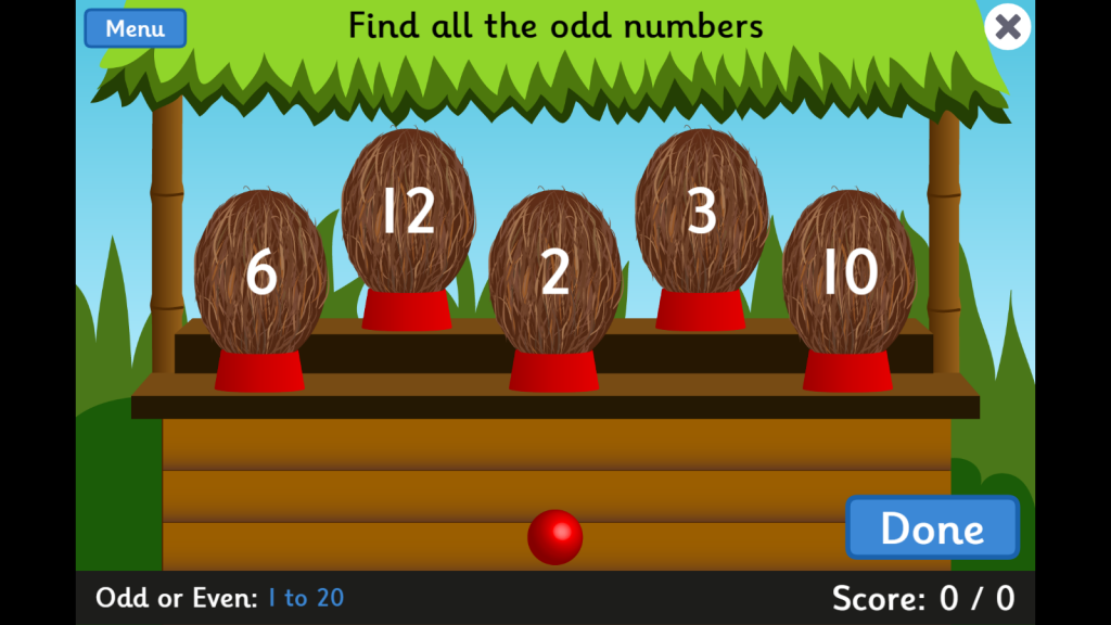 Maths games for Year 1